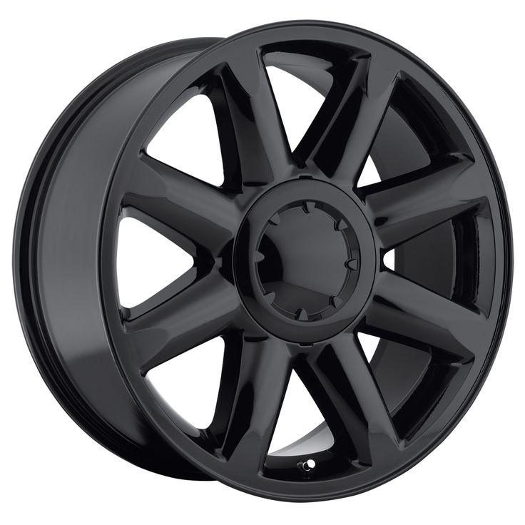 Gmc Yukon 2007-2012 20x8.5 6x5.5  13 - Denali Wheel - Gloss Black With Cap