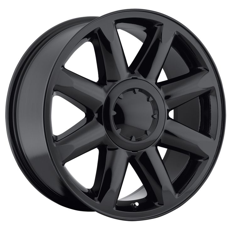 Gmc Yukon 2007-2012 20x8.5 6x5.5  13 - Denali Wheel - Gloss Black With Cap