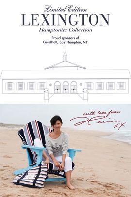Lexington Hamptonite Collection - a collaboration with Hilaria Baldwin to benefit Guild Hall
