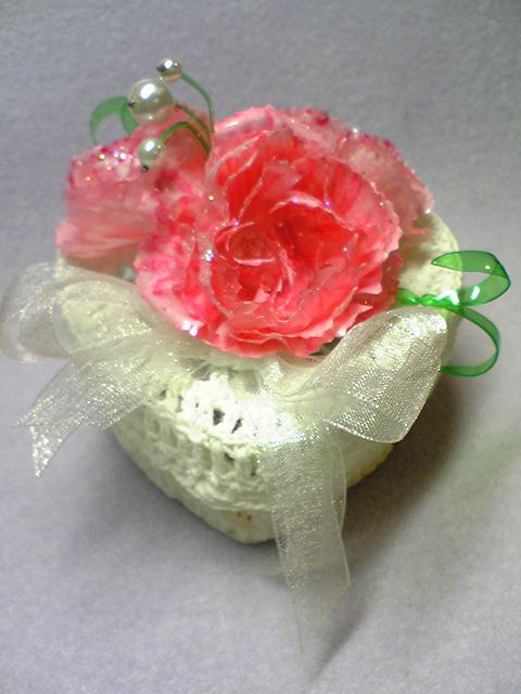 Make a carnation from a plastic egg carton other the for Plastic egg carton crafts