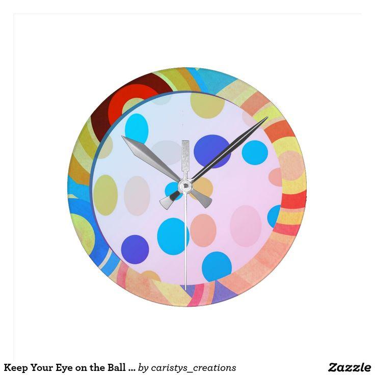 Keep Your Eye on the Ball Nursery Room Clock Blue
