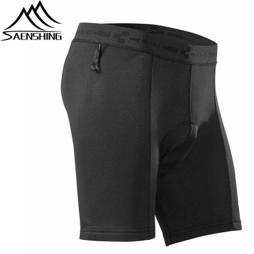Men's Black Bike Underwear - ElasticAround Waist And Pad Accepted