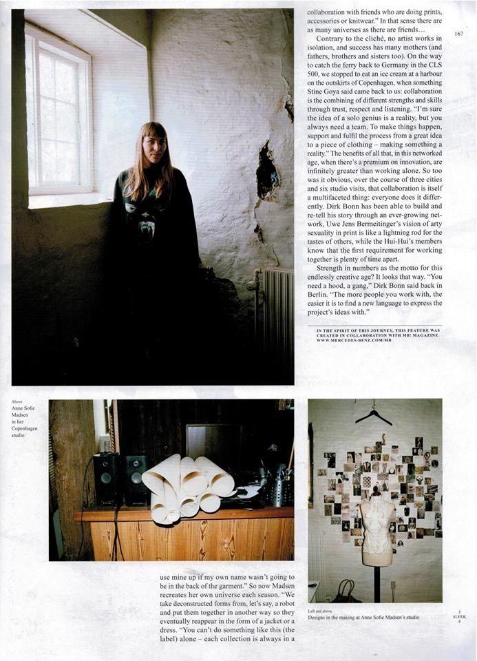 Anne Sofie Madsen SS14 progression, studio and label editorial