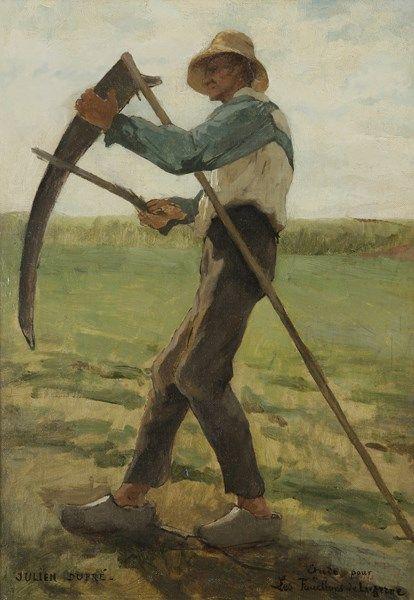 Julien Dupré (French, 1851-1910), Faucheur [Reaper]. Oil on canvas, 45.5 x 32.5 cm.