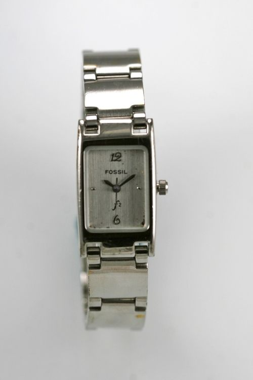 997994ba741 Fossil F2 Watch Womens Stainless Silver Water Resistant Battery White Quartz