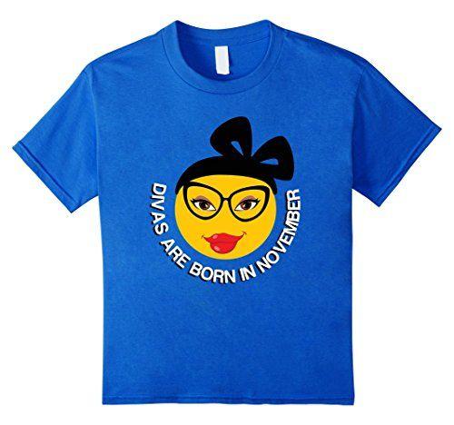 8d8ce6d3d Emoji Birthday Shirt For Girls Divas Are Born In November Birthday Shirt  For Girls