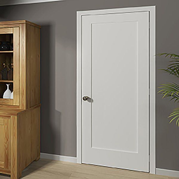 Paneled Solid Wood Primed Standard Door 1000 In 2020 Wood Doors Interior Black Interior Doors Doors Interior