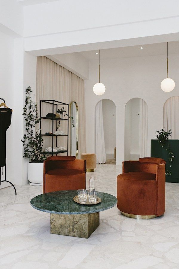 The Margot Molyneux Shop, located in Cape Town shows how minerals illuminate interiors and is a perfect example of today's retail trends.