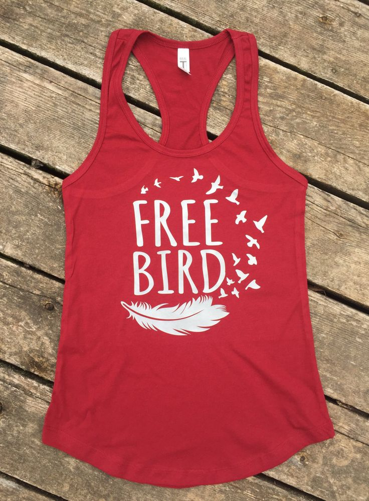 Free Bird Ideal Tank, Women's Country Lifestyle Gypsy Boho Apparel Tank T-Shirt Southern Clothing, Country Sayings Shirt by BackwoodsGypsyCo on Etsy
