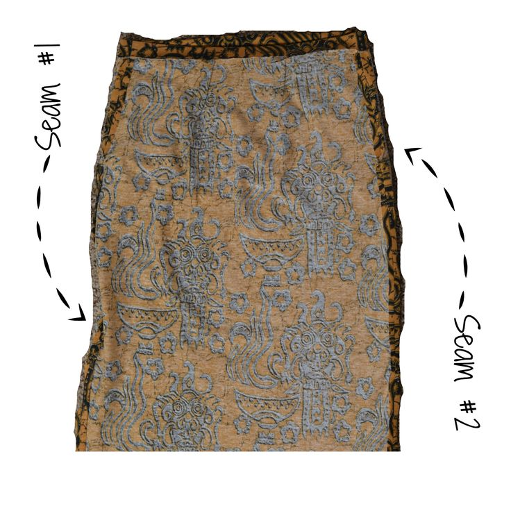 how to cut and sew a pencil skirt