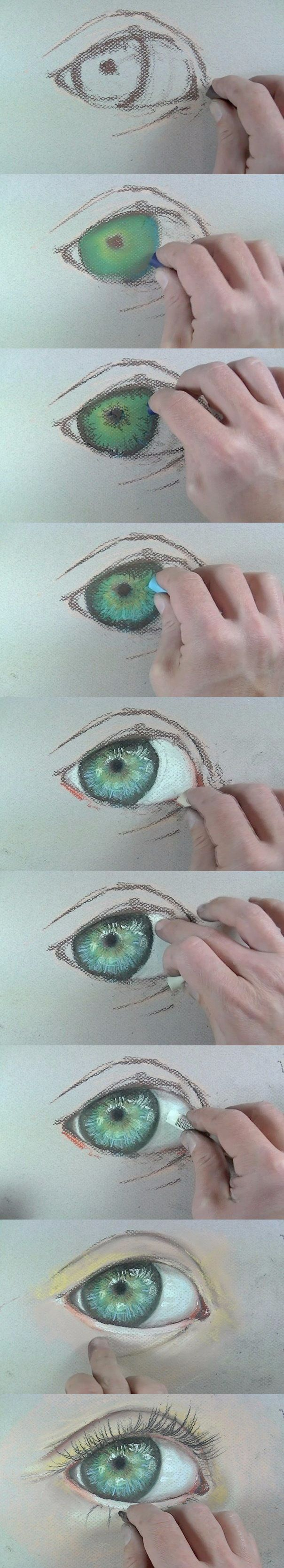 How To Draw An Eye With Crayon  �� �������� ��, ��� ������