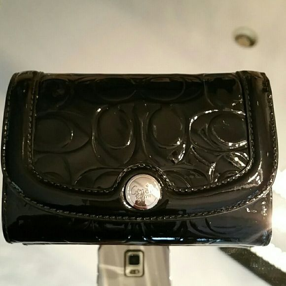 COACH WALLET Black patent leather COACH wallet purchased at the Coach Store used once. Coach Other