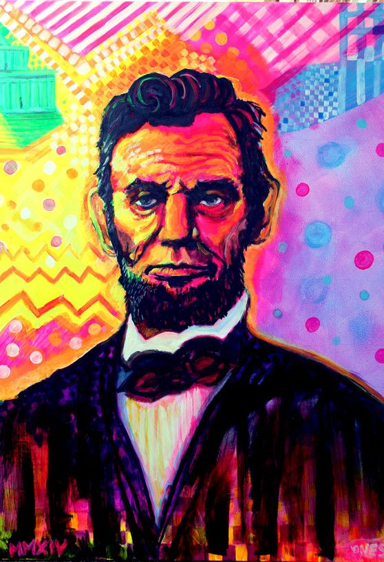 Brandon Jones - '1980's Abe Lincoln' Print