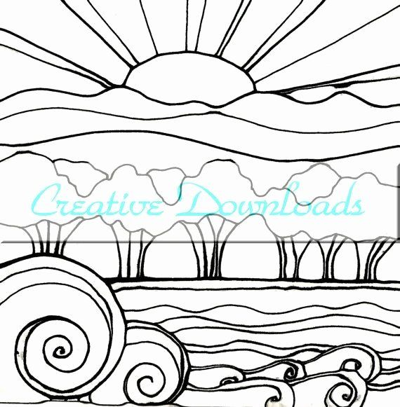 Sunset Coloring Pages For Adults Inspirational 2719 Best Images About Coloring Pages Hand Embroidery Clip Art Art Fundraiser Coloring Pages