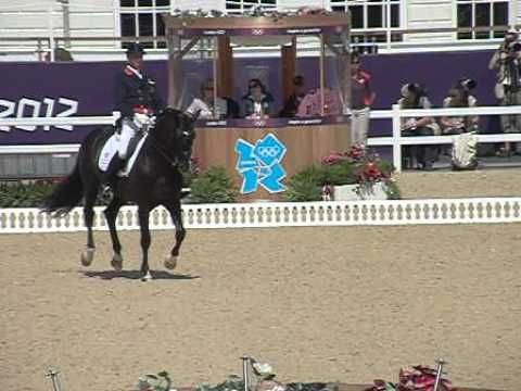 Here you can see Olympic Team GB rider, Carl Hester doing flying chnages during the team dressage test at the London 2012 games. Captured by Centaur Biomechanics using a high speed camera at 300 frames per second.