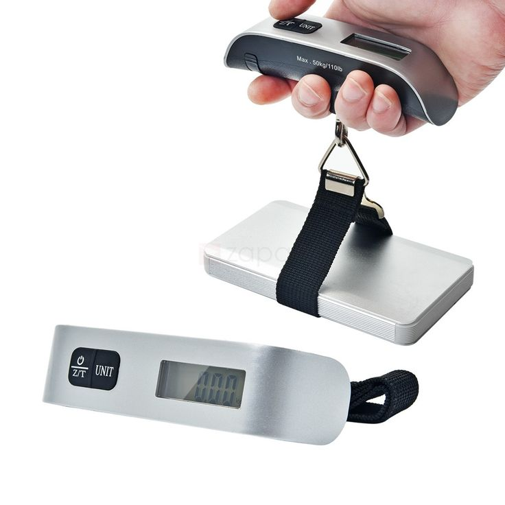 Portable 50kg/110lbs Digital Luggage Scale with Thermometer. Are you always paying for your extra luggage? This Digital Luggage Scale is a MUST- HAVE for you! This scale can precisely measures luggage up to 110 lbs/50kg and displays the weight in g, kg or lbs on a large LCD display. Ideal for a wide range of different applications from the airport to the post room, Never afraid to pay excess baggage charges again! So, what are you waiting for? Shop now!