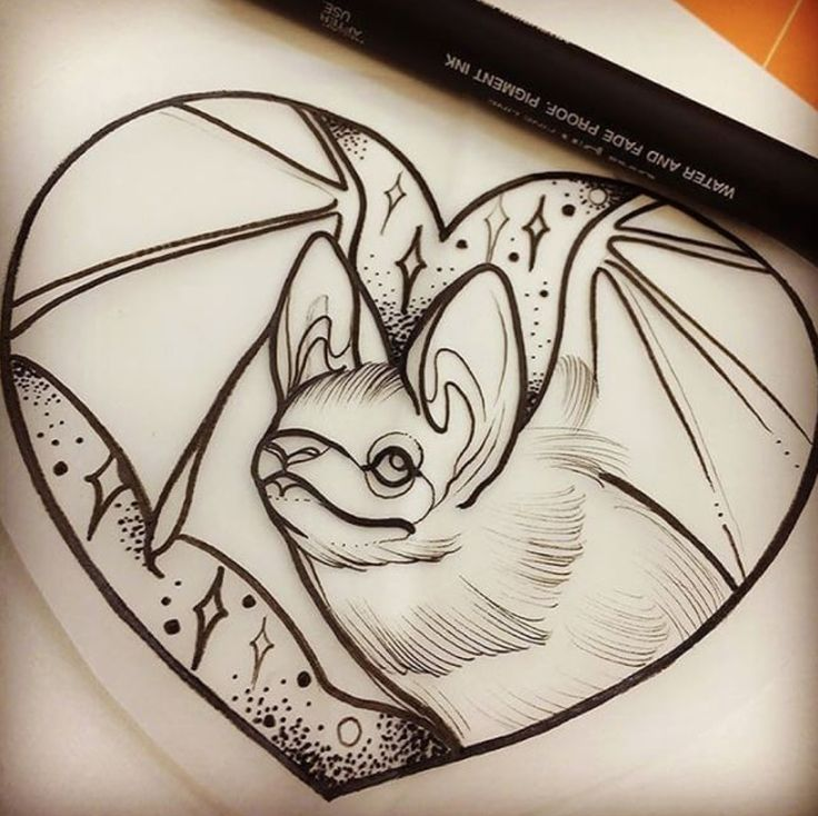 #illustration #draw #drawing #sketch #tattoo #tattoos #tattooed # #ink #inked #howtodraw #bat #heart #cute #black #neo #traditionel #traditional #neotraditionel