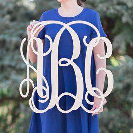 sale 12 36 inch wooden monogram letters vine