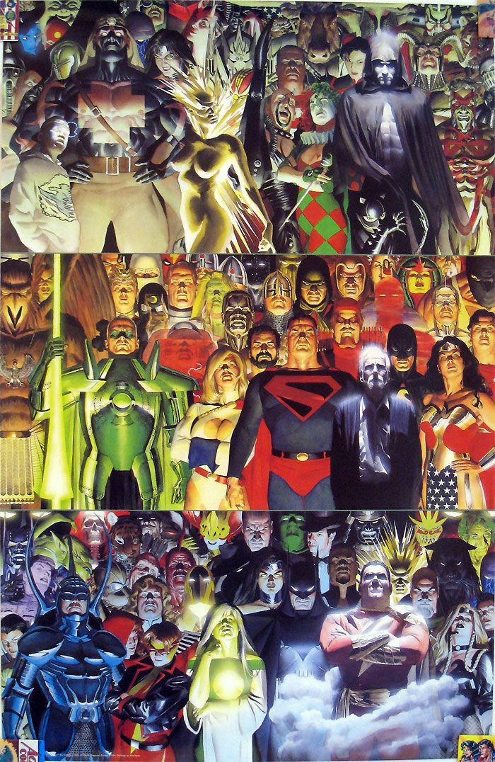 "#Justice #League #Of #America #Fan #Art. (Å Rare ""Kingdom Come"" Poster from 1996 Dc Comics) By: Alex Ross. ÅWESOMENESS!!!™ ÅÅÅ+"