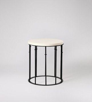 Octavia, Side Table, Marble & Iron