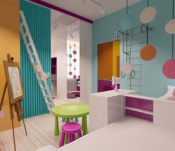 Contemporary Kids Room: Playful Modern Kids Room