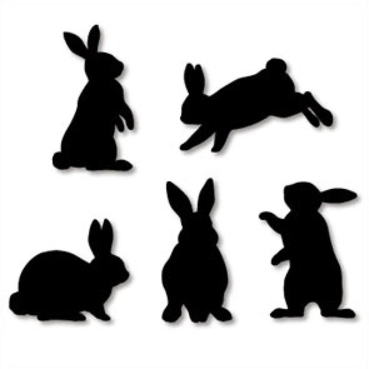 Wall Decorations:  Rabbit (Black),Home and Living,Paper Craft,rabbit,Silhouette,decoration,black,rabbit