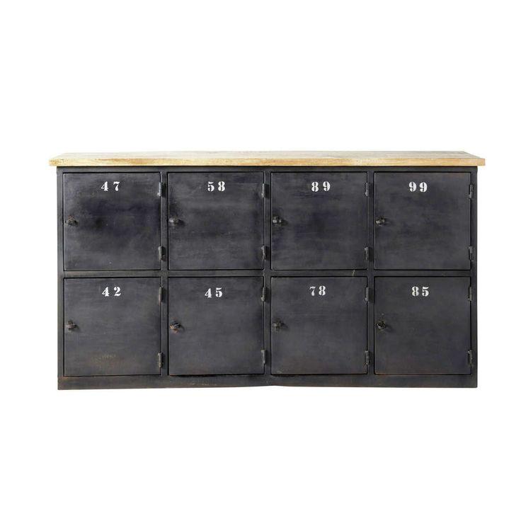 Anrichte im Industrial-Stil aus Metall mit Fächern, B 160cm, anthrazit Alésia Jetzt bestellen unter: https://moebel.ladendirekt.de/wohnzimmer/schraenke/kommoden/?uid=1f03001b-120a-5a1e-9754-33a23922ad60&utm_source=pinterest&utm_medium=pin&utm_campaign=boards #schraenke #kommoden #wohnzimmer