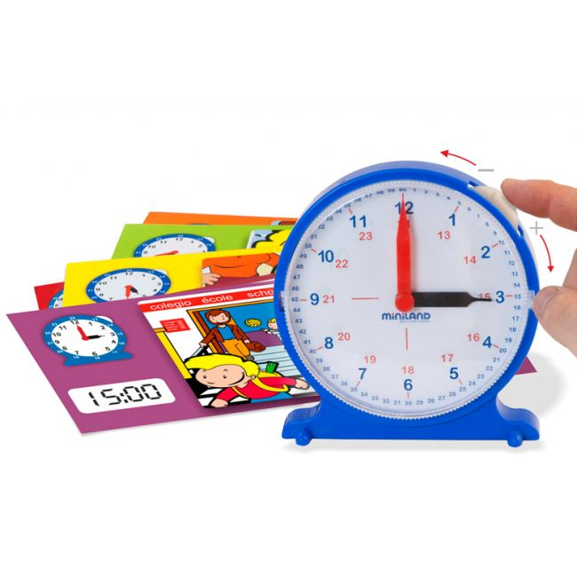 A fun way of leaning how to tell the time and relating it to certain daily activities with this manual clock. The 12 activity cards are double-sided with a picture of an activity, a picture of the manual clock and digital equivalent. #entropytoys #timetelling #learning #school