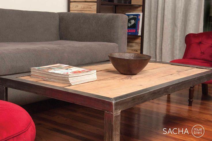 www.sachamuebles.com www.facebook/SachaMuebles.com Mesa ratona hierro madera