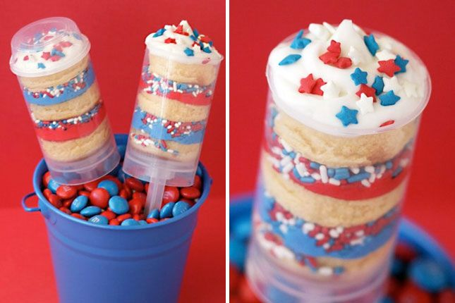 Push Pop Cakes | 30 Ways to Rock the 4th of July