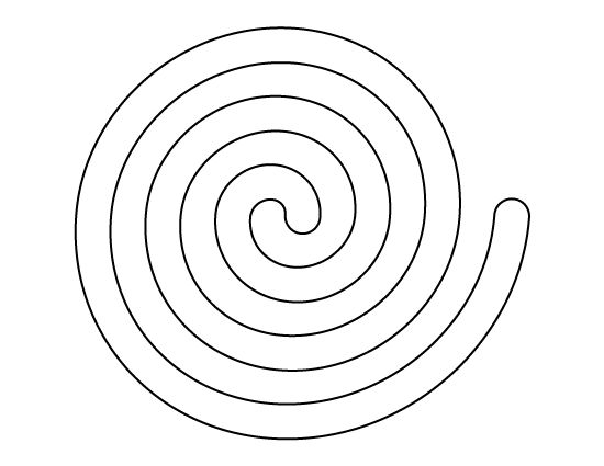 Spiral pattern. Use the printable outline for crafts, creating stencils, scrapbooking, and more. Free PDF template to download and print at http://patternuniverse.com/download/spiral-pattern/