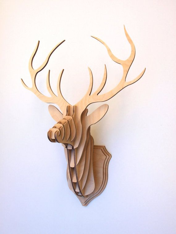 Deer Head Stag Trophy Large by CliveRoddy on Etsy