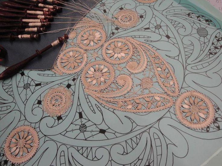 Mirecourt part lace, ph/b Daniela Radway-Gilbert, from a Couvige at Mirecourt 2016