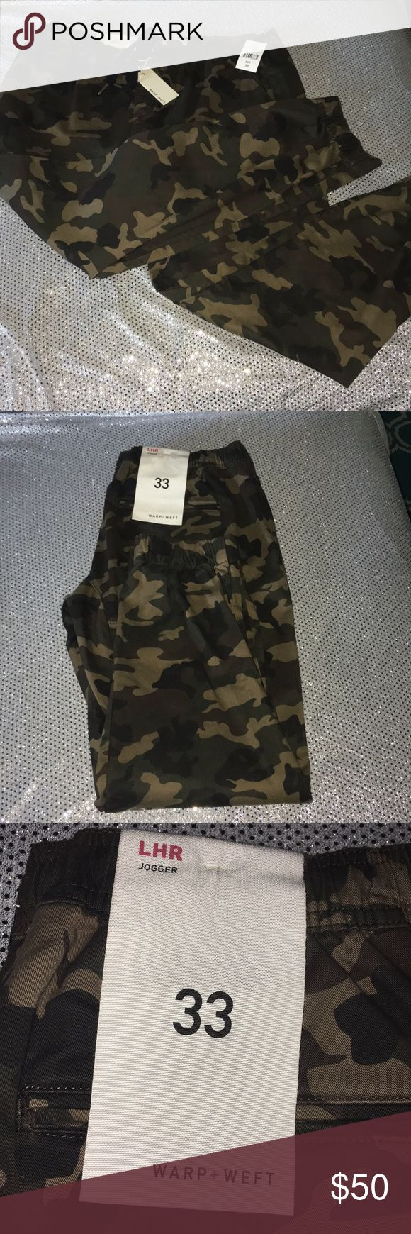 Warp + Weft Camo LHR Joggers Size 33 East London I…