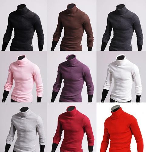 10 color available mens turtleneck shirt