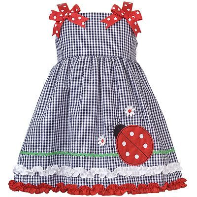 cute idea for a dress/jumper.... use grosgrain ribbon for the ties and add a fun bow. (The jumper really isn't my style, but I love the ties)