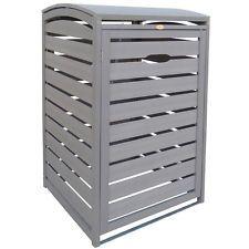 3x Mülltonnenbox aus  Kunststoff mit Holzstruktur für alle Tonnen bis 240 L