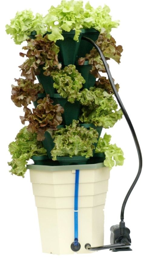 Mr. Stacky Stacking Hydroponic Pots Power Tower Garden | PowerHouse Growers  | Sustainably Integrating Urban