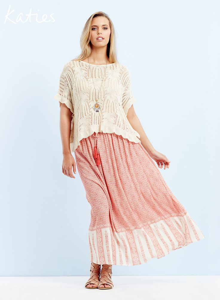 THE MUST-HAVE MAXI/ Relaxed and feminine, a paisley maxi skirt is the wear now piece that can be dressed up or down.