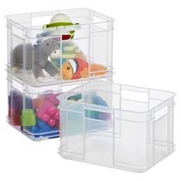 Our Small European Commercial Crate is clearly great at multitasking. It is lightweight yet sturdy enough to help you sort and store everything, including toys in a kid's room, groceries in a trunk, cleaning and garden supplies in a kitchen or shed and athletic equipment in a garage. Plus, it features a unique stacking design that lets you maximize vertical storage space.