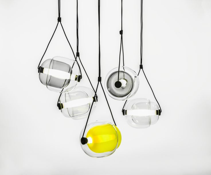 Capsula pendant #lights by Brokis in Aquaquae.
