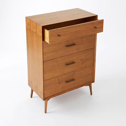 Mid-Century 4-Drawer Dresser - Acorn #westelm
