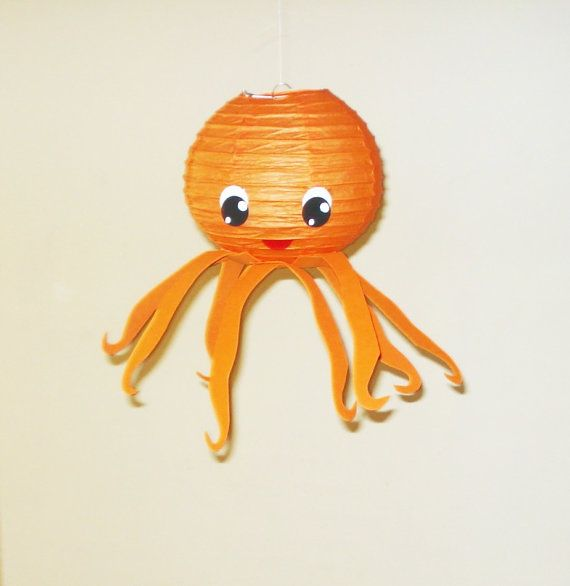 octopus Paper Lantern. Party Decorations, Baby Shower, Room Decor, nursery decor.