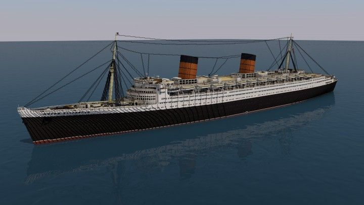 RMS Queen Elizabeth - 3:1 Scale Minecraft Project
