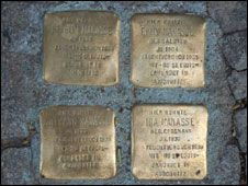 The four Manasse family stolpersteine