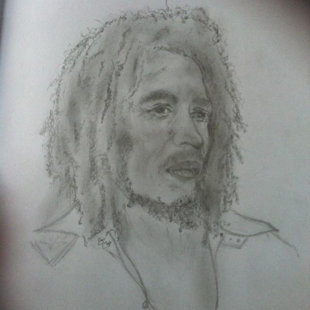 My drawing of Bob Marley