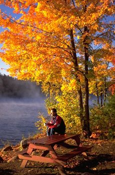 Morning coffee in Algonquin Park - yes please!