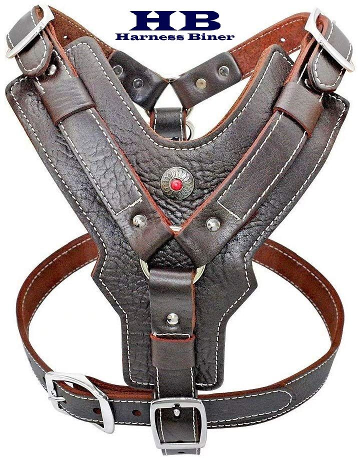 Handcraft Leather Dog Harness Made Of Strong And Durable Genuine