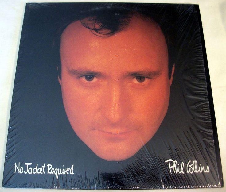 "Phil Collins ""No Jacket Required"" 1985 LP Shrink EX/EX Atlantic 91240-1 #RocknRollRootsRockSingerSongwriter"