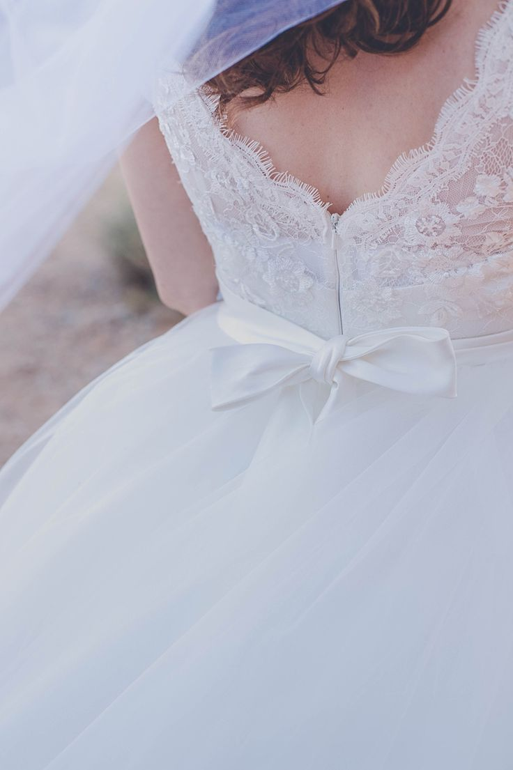 Bride Dress Back Lace Bow Windy Valley of Fire Wedding Nevada https://cactusandlaceweddings.com/